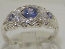 Tanzanite Diamond Sterling Silver Fine Jewellery