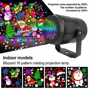 Outdoor LED Moving Snowflake Laser Lights Projector Lamp Christmas Party Decor