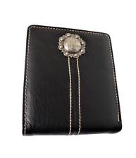 Genuine Leather Men's Wallet Country Cowboy Western Bifold Wallet Black