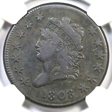 1808 S-279 Ngc Vf 25 Classic Head Large Cent Coin 1c