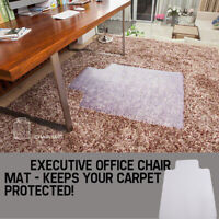 """48""""*36"""" PVC Carpet Rug Protective Table Mat for Rolling Chair Hard Wood Floor"""
