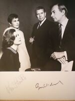 "HAND SIGNED PHOTO LEGENDARY WRITER GORE VIDAL & KIM HUNTER FROM PLAY -""WEEKEND"""
