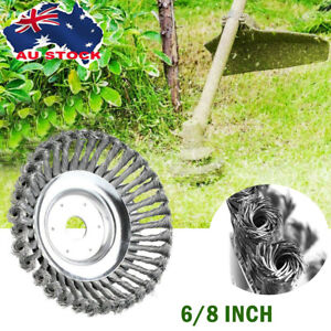 "8""  Indestructible Steel Wire Trimmer Head Grass Brush Cutter Lawnmower Tool AU"