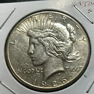 1926-S PEACE SILVER DOLLAR BETTER DATE COIN