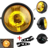 6.5'' 35W Moto Phare Projecteur Headlight Lamp&Support Bracket Pour Harley Honda