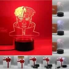 XXXTentacion 3D LED Night Light Decor Button Switch 3 Color Table Lamp Xmas Gift