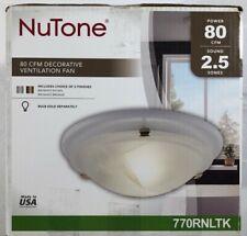 NuTone Decorative Brushed Nickel 80CFM Ceiling Bathroom Exhaust Fan - 770RNLTK