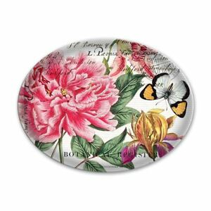 Michel Design Works Glass Trinket / Soap Dish Peony - NEW
