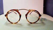Vintage Leonard Studio  Amber brown Tortoise Frame Demo Lens Sunglasses NOS New