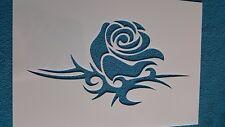 Schablone 807 Tattoo Rose Wandtattoo Stencil Leinwand Textilgestaltung Airbrush