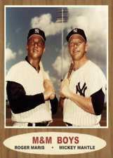 MICKEY MANTLE ROGER MARIS 62 M&M BOYS ACEO ART CARD ## BUY 5 GET 1 FREE ##
