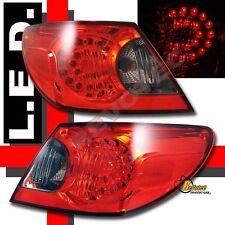 2007-2008 Chrysler Sebring Sedan 4Dr LED Tail Lights Red/Smoke Pair