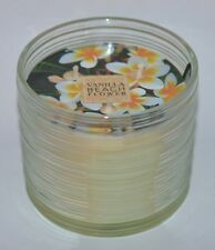 NEW BATH & BODY WORKS VANILLA BEACH FLOWER SCENTED CANDLE 3 WICK 13.5 OZ LARGE