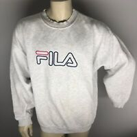 Vintage Film Men's Grey Spell Out Crewneck Sweater Size 2XL Embroidered