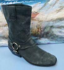 Zodiac Women's Omni Grey Distressed Leather Harness Riding Boots Size 8M
