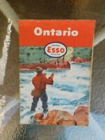 ONTARIO ROAD MAP ESSO IMPERIAL DEALER GAS SERVICE STATION ADVERTISING 1955