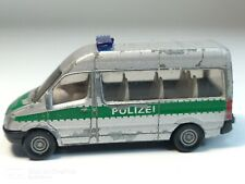 Siku Mercedes Sprinter POLIZEI Van silver Playworn ©J