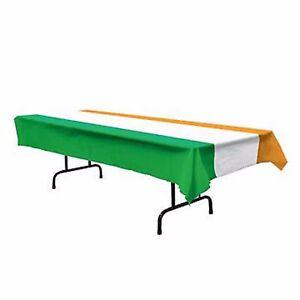 Irish Flag Table Cover 137cm x 274cm - Irish St Patricks Day Party Supplies