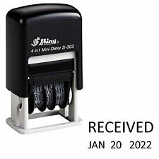 Shiny RECEIVED Self Inking Rubber Date Stamp S-303 | Mini Date Stamp Black Ink
