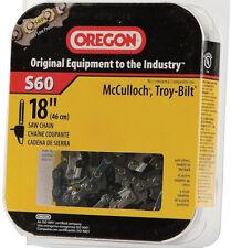 """New Oregon S60 18"""" Bar Chainsaw Pole Saw Chain for McCulloch MS1838AV, Troy-Bilt"""