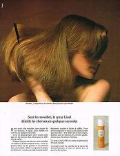PUBLICITE  1974   LIXEL    cosmétiques  & soins  des cheveux