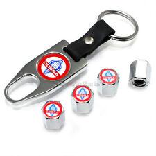 Ford Mustang Cobra Snake Logo Chrome Tire/Wheel Stem Valve CAPS Wrench Key Chain