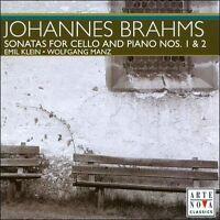 NEW Brahms: Sonatas for Cello & Piano Nos. 1 & 2 (Audio CD)