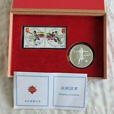 China 2002 FIFA Copa Mundial de fútbol medalla de plata prueba y Sello Conjunto en caja/cert. de autenticidad