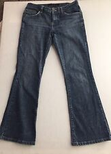 CALVIN KLEIN Jeans Flare Boot Cut Black Dark Wash Women's Size 2 Flap Pockets