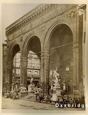 STREET VENDORS Nude Male Statue ITALIAN COFFEE Albumen Photo 1880 RENAISSANCE