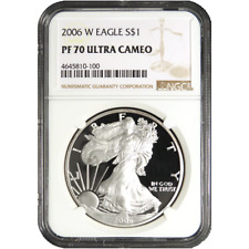 2006-W Proof $1 American Silver Eagle NGC PF70UC Brown Label