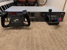Precision Flight Controls Cirrus ll Flight Sim w/ Rudder Pedals & Avionics Stack