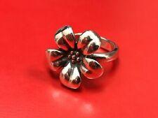RETIRED James Avery Sterling Silver Flower Ring 7