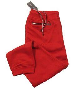 Tommy Hilfiger Men's Red Solid Fleece Lined Jogger Pants