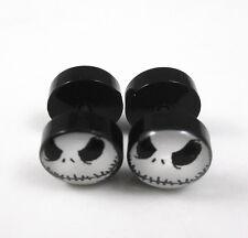 Nightmare Jack Skellington Stainless Steel Fake Ear Plug Stud Earrings
