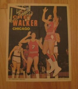 CHET WALKER 1970-71 Topps Basketball Poster NBA Chicago Bulls 14 1970 HOF