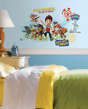 PAW PATROL wall stickers GIANT stickups Ryder Chase Marshall Rubble dogs puppies