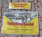PROHIBITION VALLEY FORGE SPECIAL BEER BOTTLE & NECK LABEL SCHEIDT NORRISTOWN PA