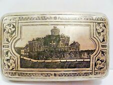 ANTIQUE Original  IMPERIAL RUSSIAN SILVER '84 CIGARETTE CASE 1893