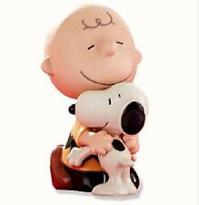 Lenox Peanuts Lots of Hugs Charlie Brown Snoopy Figurine NEW IN BOX