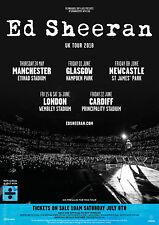 "ED SHEERAN ""UK TOUR 2018"" CONCERT POSTER - Pop, Folk Pop Music"
