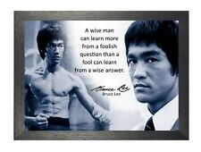 Bruce Lee 60 Famous Quote Martial Arts Legend Kung Fu Signed Picture Poster