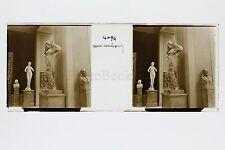 Paris Musée du Luxembourg Sculpture Plaque de verre stéréo