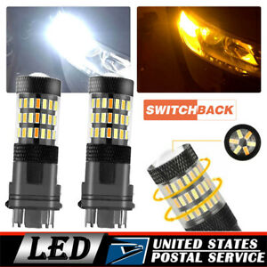 2x 3157 Switchback Dual Color LED Turn Signal Light Bulb For Dodge Ram 1994-2010