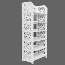 6 Tier 18 Pairs Shoe Rack Shelf Storage Cabinet Display Wall Standing White
