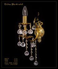 Jugendstil Kristall Wandlampe Echt Kristall und Metall Rahmen, Gold o. Silberf.