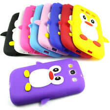 New Samsung Galaxy S3 i9300 Pingüino Bonito Silicona Suave Funda De Teléfono