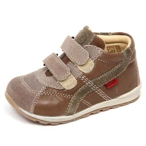 E2266 sneaker bimbo taupe/brown KICKERS EDDIS scarpe shoe kid baby boy
