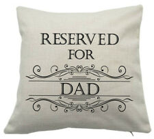 Reserved For DAD Cushion Pillow Fathers Day Birthday Christmas Gift Keepsake