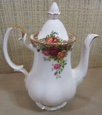 Royal Albert Bone China Old Country Roses Medium Coffee Pot 4 Cups England (C5)